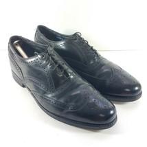 FLORSHEIM Black Leather Wingtip Shoes Full Brogue Mens Size 10.5 E - $36.87
