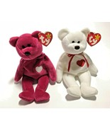 Ty Beanie Babies Valentino 1994 / Valentina 1998 Retired Bears Multiple ... - $11,781.00