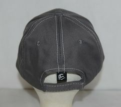 OC Sports BTP 100 Twill Cotton Cap Grey Visor Piping Accent White Adult image 5