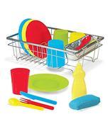 Melissa & Doug Wash & Dry Dish Set,Multi Colored - $23.73
