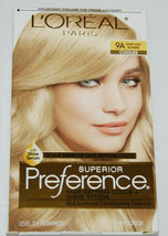 LOreal Superior Preference Hair Dye Color Light Ash Blonde 9A Cooler - $10.99