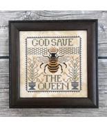 God Save The Queen cross stitch chart Annie Beez Folk Art  - $8.10