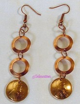1953 Lucky Penny & Solid Copper Ring Earrings 64th Birthday Or Anniversary Gift! - $16.39