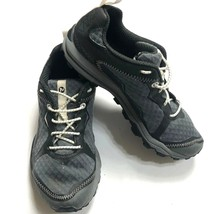 Merrell Unifly Womens Shoes Black Gray Performance  Lace Up Grip Sneaker Size 5  - $23.32