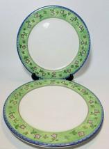 Watercolors by Sango Melon Patch 3003 Set of 2 Dinner Plates Sue Zipkin  - $17.77