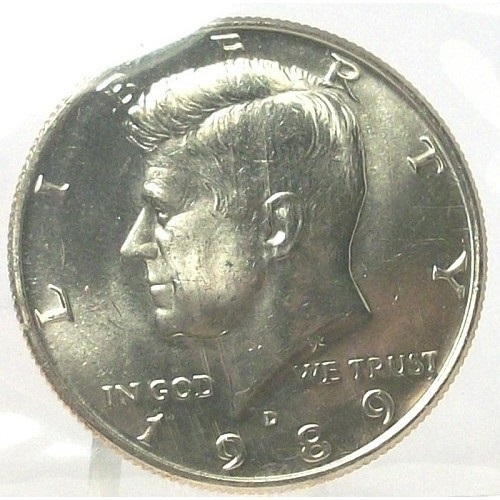 Primary image for 1989-D Kennedy Half Dollar BU in the Cello #0705