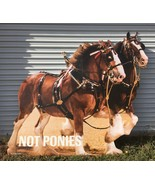 Budweiser Beer Not Ponies Clydesdale Horse Cardboard Cutout 2016 Ad Stan... - $149.95