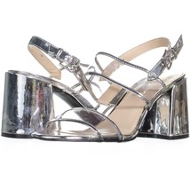 Nine West Gourdes Strappy Toe Ring Sandals 834, Clear Gray, 11 US - $25.91