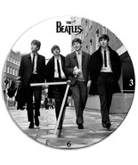 """The Fab 4 Early Beatles Photo Image 13.5"""" Cordless Wood Wall Clock NEW S... - $19.34"""