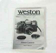 Weston WX-7 35mm Camera Owner's Manual - $7.99