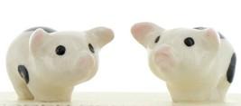 Hagen Renaker Miniature Pig Black & White Piglets Standing - Set of 2 Figurines image 1