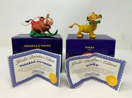 Disney Grolier Simba Pumbaa Timon Lion King Ornament Christmas President Edition - $29.69