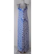 ANN TAYLOR LOFT Blue Cabana Stripe Maxi Sun Dre... - $24.99