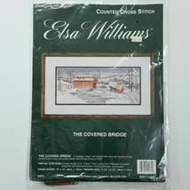 Elsa Williams Counted Cross Stitch Kit 02070 - The Covered Bridge Sleigh Ride - $17.80