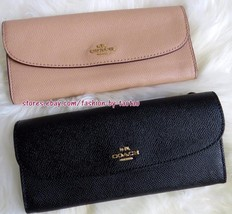 New w Tag COACH F59949 Crossgrain leather soft WALLET - $69.00