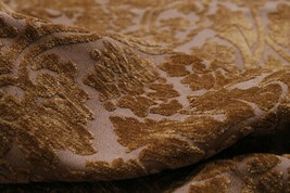 """Textured Brown & Gold Chenille Fabric 3-1/4 yards of 56""""  - $85.09"""