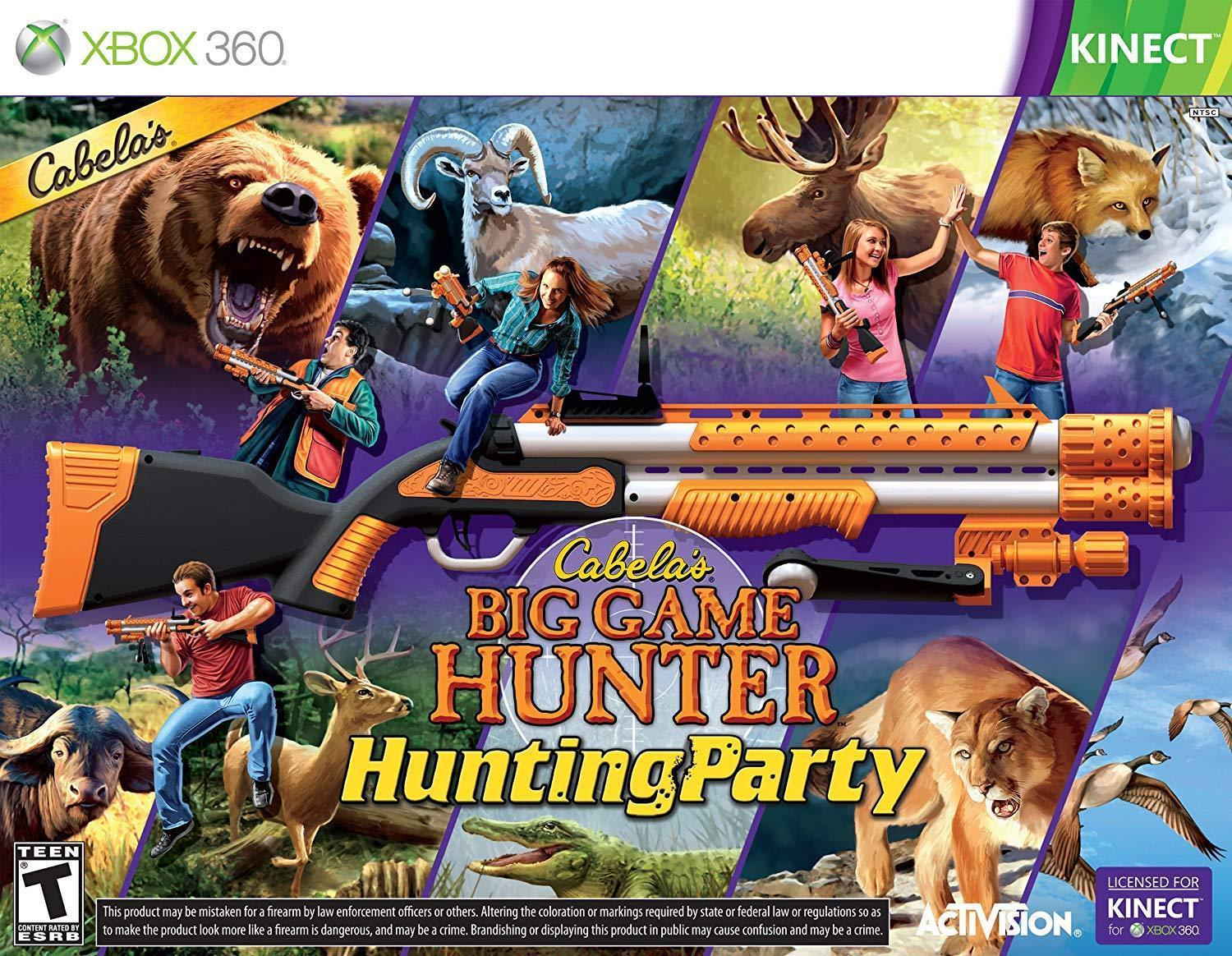 Cabela's Big Game Hunter Hunting Party For Xbox 360 - Kinect [New] W/ Gun Bundle
