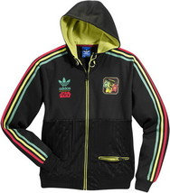 New Adidas Original StarWars GLOW Black Jacket Mens RASTA BOB A FETT V32822 - $149.99