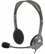 Logitech H111 3.5 mm Noise Cancelling Wired Headset With Mic Gaming for ... - $24.75