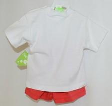Snopea Two Piece Boys Short Set Race Cars Red Shorts White Shirt Size 9 Months image 2