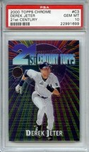 2000 Topps Chrome 21st Centry #C3 Derek Jeter PSA 10 POP 34 - $24.74