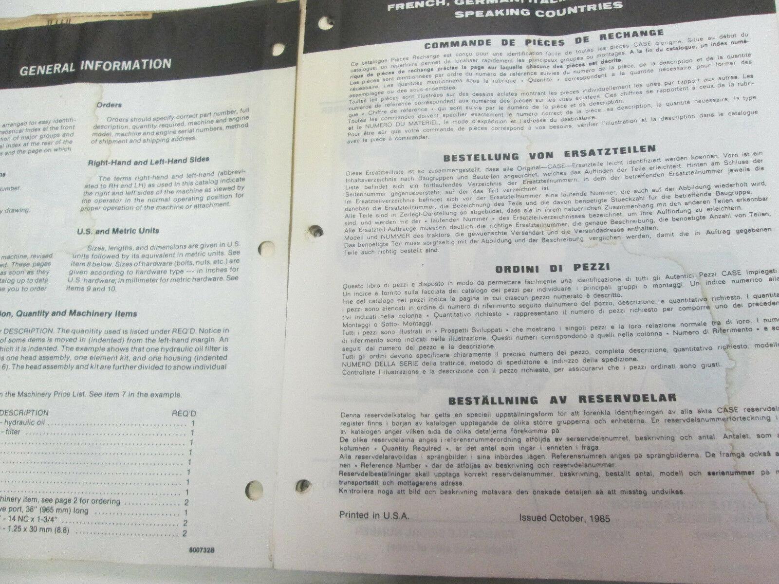 Schutzhülle 584E 585E 586E Gabelstapler Teile Katalog Manuell OEM Buch 8-2870
