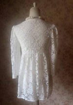 Rustic Lace Plus Size Lace COVER-UP Ivory Lace Coverup Boho wedding Women TOPS image 4