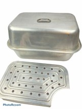 Vintage Aluminum Wear Ever Roast Roaster Pan 3 Pieces # 325 Vented w/ Tr... - $54.44