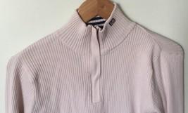 Polo Jeans Co Ralph Lauren 1/4 Zip light Pale Pink Mock Neck Sweater Sz XL - $21.77