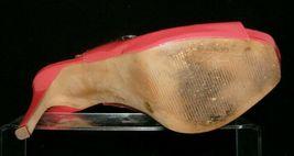 Jessica Simpson 'Barit' coral man made peep toe slingback platform heels 8B image 9