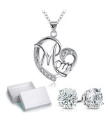 Charm Silver Crystal Floating Charms Locket Mom Mother Living Memory Nec... - $11.75