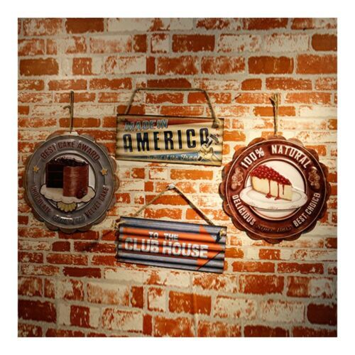 America Vintage Creative Iron Wall Hanging Decoration 3