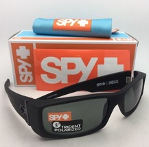 Polarized SPY OPTIC Sunglasses HIELO Soft Matte Black Frame w/ Grey-Gree... - $184.95