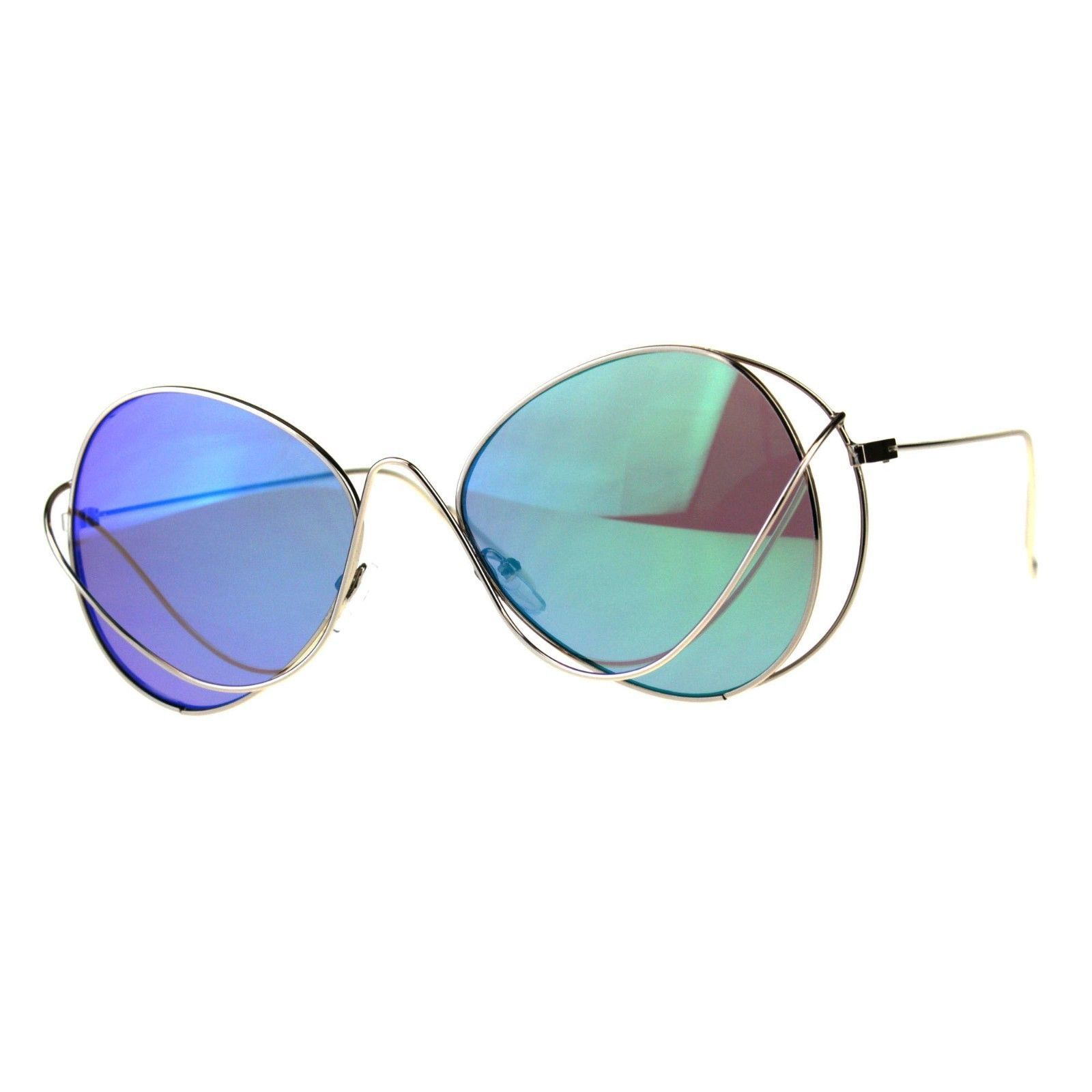 Womens Fashion Sunglasses Thin Metal Wired Frame Unique Style UV 400
