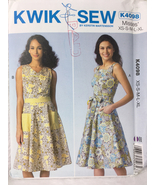 Kwik Sew K4098 Misses Dresses and Belts Sewing Pattern Sizes XS, S, M, L... - $13.00