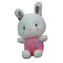 Sitting Bunny Plush Dolls Car Decors Bamboo Charcoal Auto Ornaments,PINK,9.8''