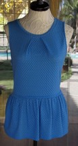 """New Sleeveless Gather Neckline Ruffle Bottom Shirt Sz. L  42"""" Bust - $15.83"""