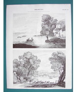 DRAWING for Artists Sketching Stages - c. 1835 3 (Three) Fine Quality Pr... - $12.15