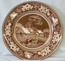 Wedgwood AL8879a Fallow Deer Brown Salad Plate - $79.09