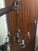 Bronze chandelier, 5 lights, vintage + 2 lights wall light - $148.50