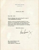 JOHN F. KENNEDY Signed White House letter& envelope. Jan 14,1963. Fine autograph image 1