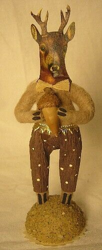 Vintage Inspired Spun Cotton Deer Boy #361 ornament Christmas Putz