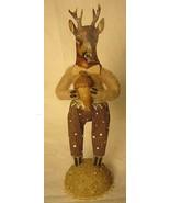 Vintage Inspired Spun Cotton Deer Boy #361 ornament Christmas Putz - $43.99