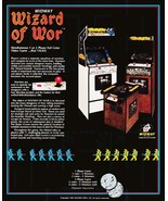 Video Arcade Game Stand-Up Display Wizard Of Wor - Missile Command Aster... - $15.99