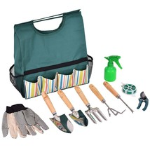 10 Pcs Gardening Planting Hand Tools Set Gloves Pruner | Portable with C... - £14.61 GBP