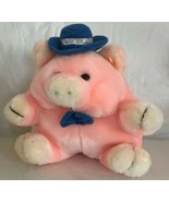 "Goffa International Pink Pig Plush Lovey 10"" Stuffed Animal Toy Blue Hat... - $15.83"