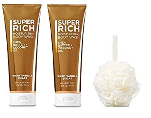 Primary image for Bath & Body Works Warm Vanilla Sugar Moisturizing Shea Butter Body Wash & Pouf