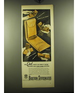 1949 Buxton Card-Tainer Billfold Ad - For Dad who'll be using it often B... - $14.99