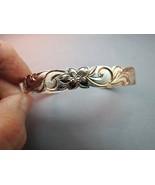 Vintage Sterling Silver Cuff Bracelet Copper Go... - $29.69