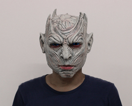 Night's King Game of Thrones White Walker Cosplay Latex Handmade Mask HQ - £23.67 GBP